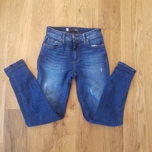 Kut high rise skinny ankle jeans